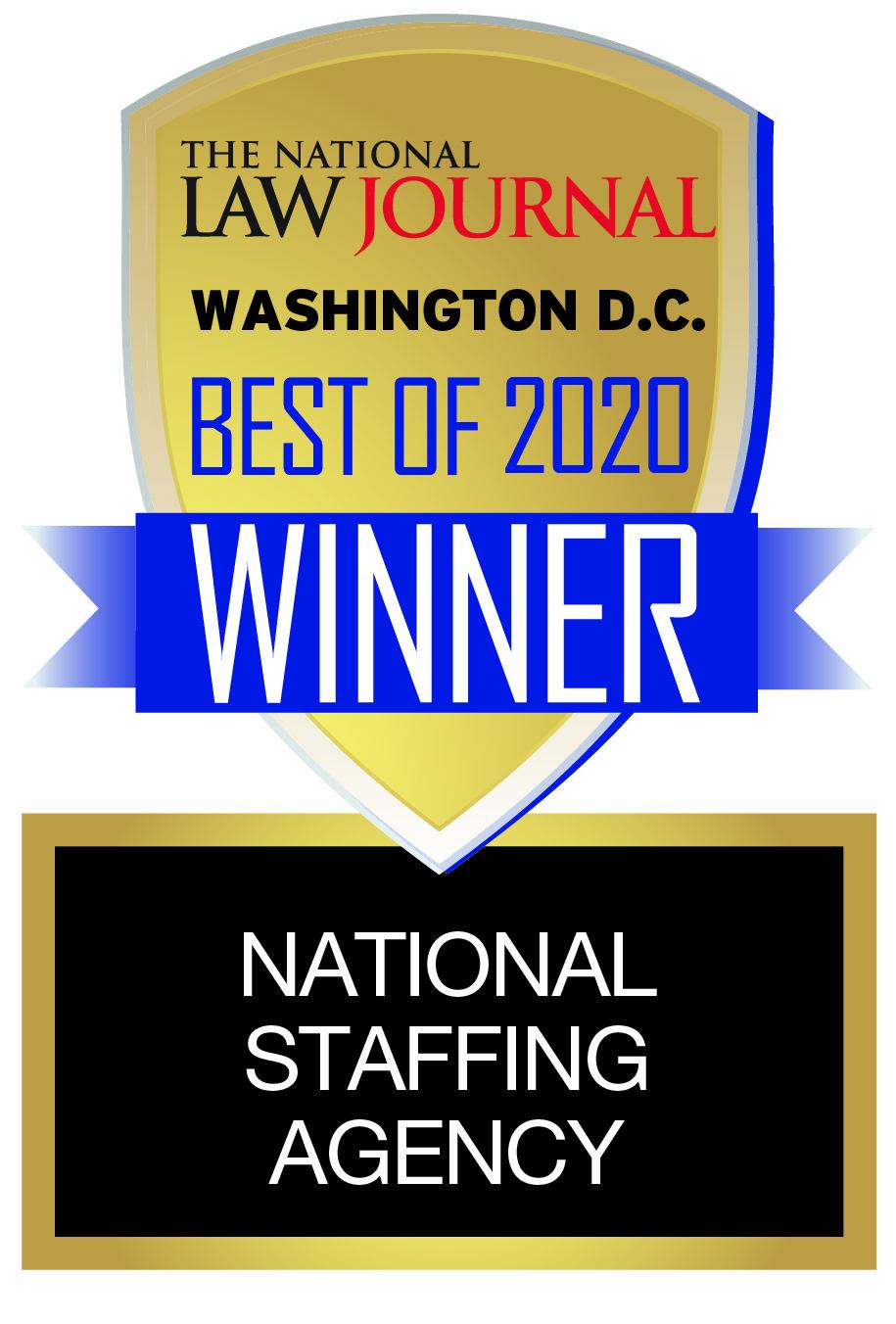 Washington DC Law Journal Best of 2020 Winner